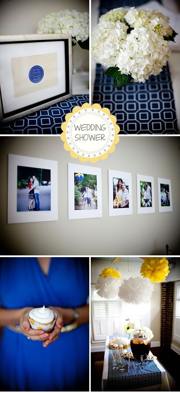 Yellow & Navy Wedding Shower Inspiration   WeddingWire: The Blog ...