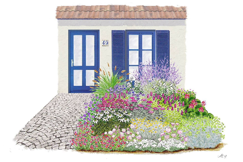 21 Vorgarten Ideen in 21   vorgarten, bepflanzung, garten