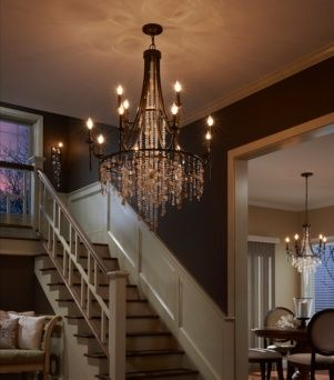 Cascade Collection by Feiss: 12-Light Multi-Tier Chandelier. #chandelier #lighting #foyer #foyerlighting