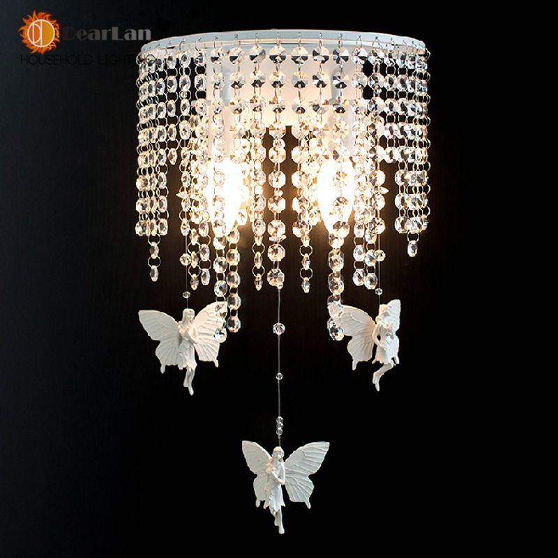 G nstige kristall wandleuchte wei schmiedeeisen harz for Gunstige esszimmer lampen