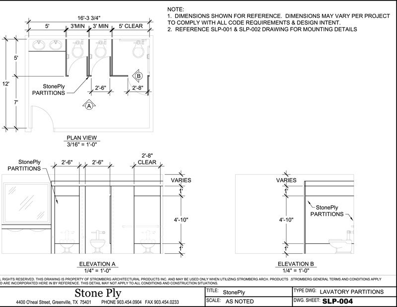 Lavatory Partitions Dimensions Reference. Lavatory Partitions Dimensions Reference   Office and Workspace