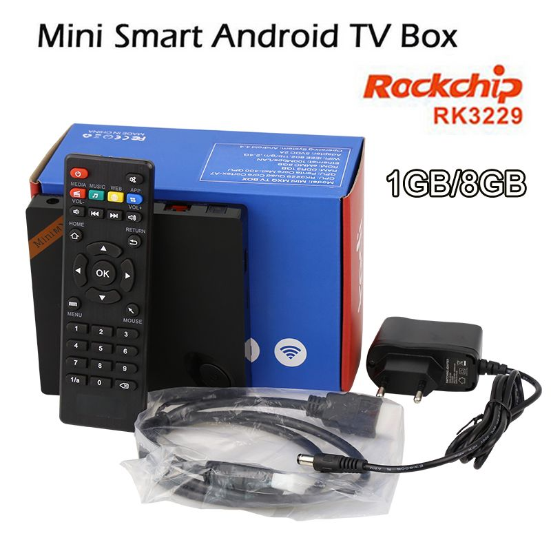 1GB/8GB MiniMXQ Smart TV Box Android 4 4 RK3229 Quad Cortex