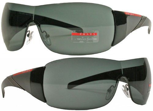 Visor 1ab1a1 Black Shiny Sport Sunglasses 07hs Prada HtqRYwvv
