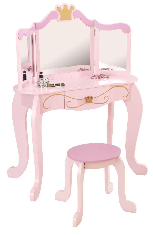 Kidkraft 76123 tocador y taburete estilo princesa amazon new princess table stool kidkraft 76123 geotapseo Images