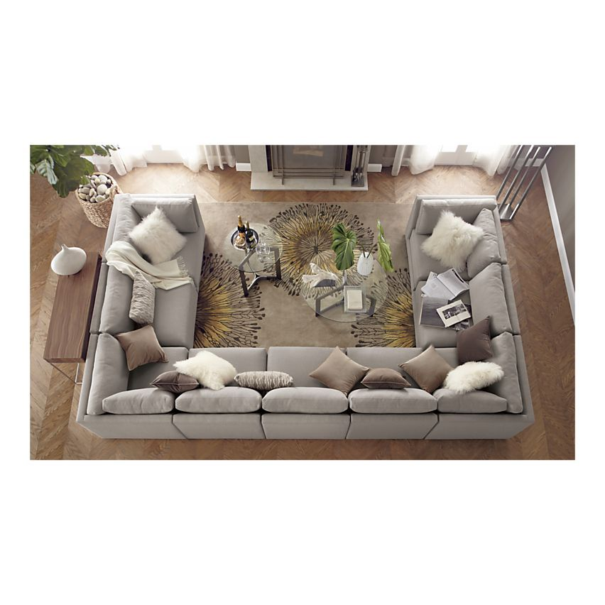 Great Crate And Barrel Moda 9 Piece Sectional Sofa U0026 Cosmo Rug