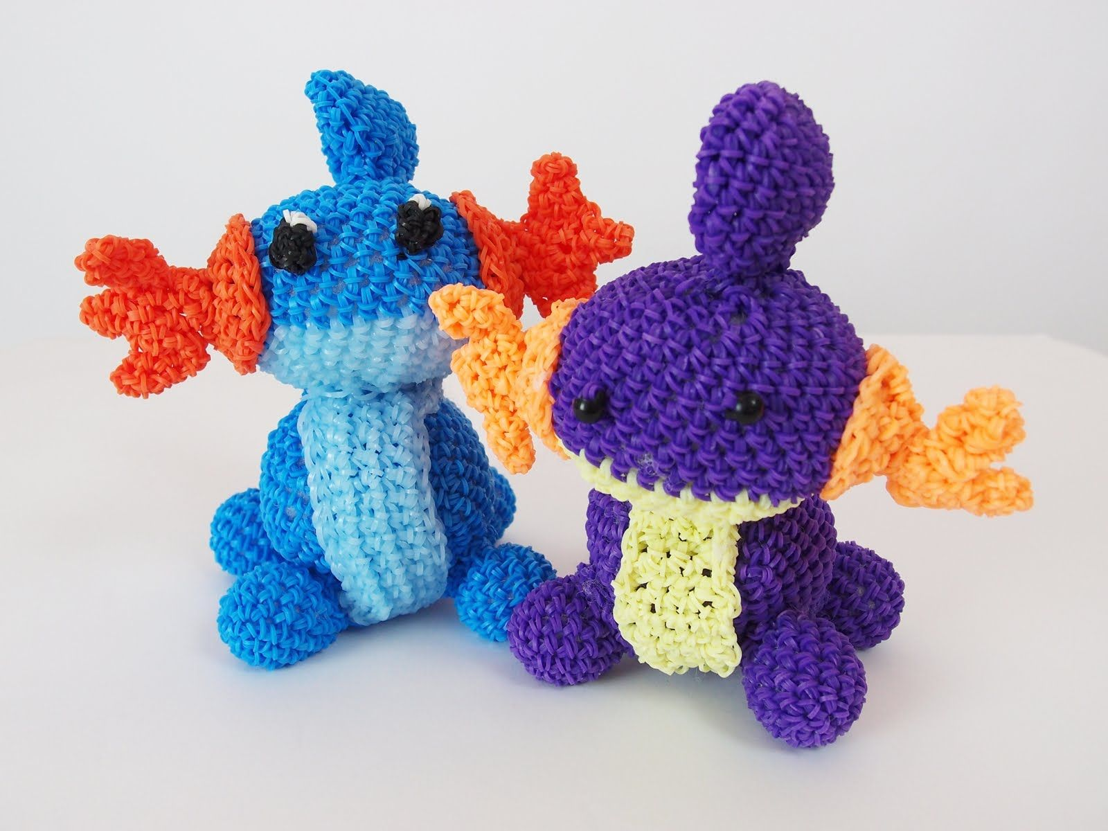 Amigurumi Loom Patterns : Mudkip pokemon rainbow loom bands amigurumi loomigurumi hook only