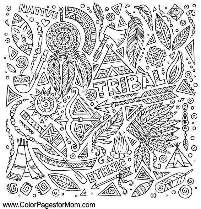 Southwestern Coloring Page 15 | Coloring Pages | Pinterest | Adult ...