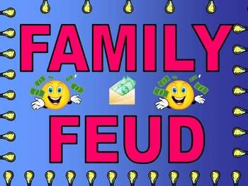 Family Feud Game Easy To Modify For Your Class  Family Feud