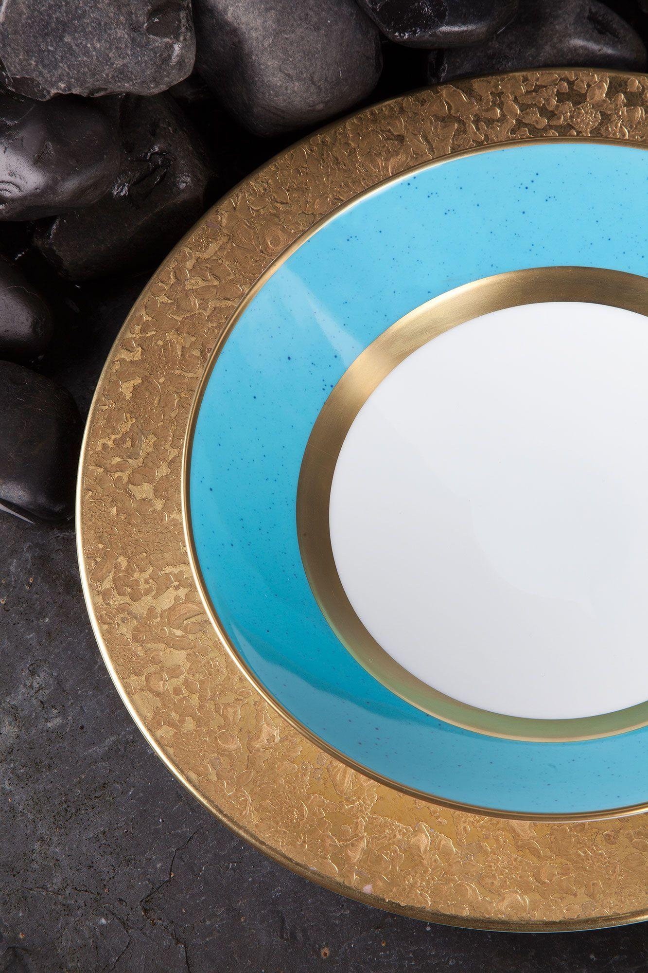 Legle Moonscape Gold Mineral Turquoise Porcelain Tableware Agentia Uk 食器