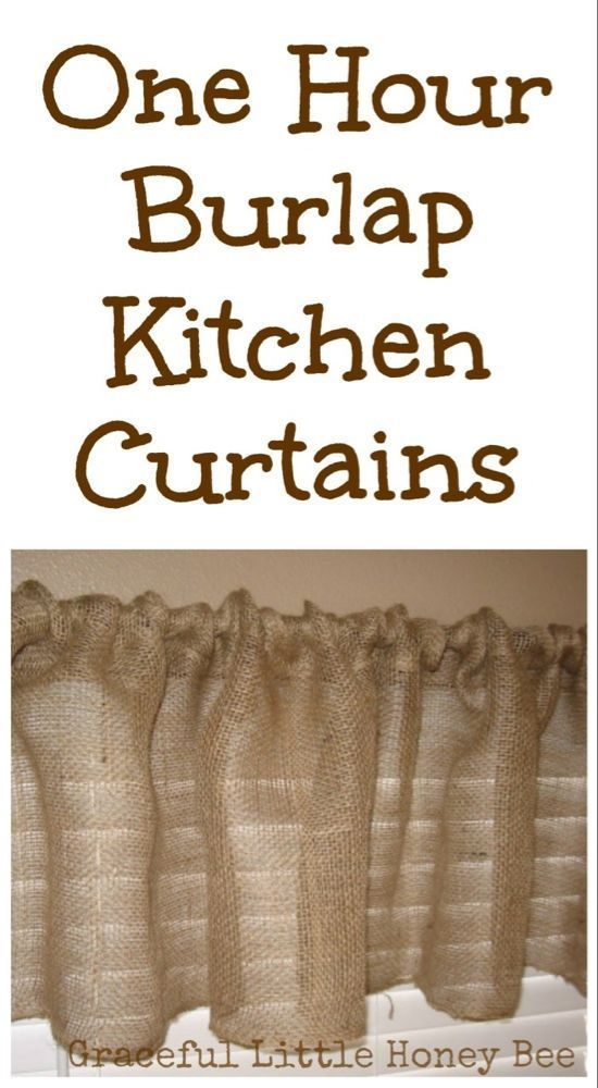 One Hour Burlap Kitchen Curtain Tutorial 2019 One Hour Burlap Kitchen Curtain  One Hour Burlap Kitchen Curtain Tutorial 2019 One Hour Burlap Kitchen Curtain