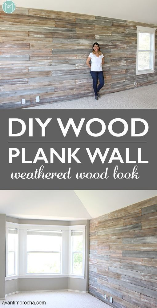 DIY Wood Plank Wall With Chalk Paint -   17 home accents DIY wood planks ideas