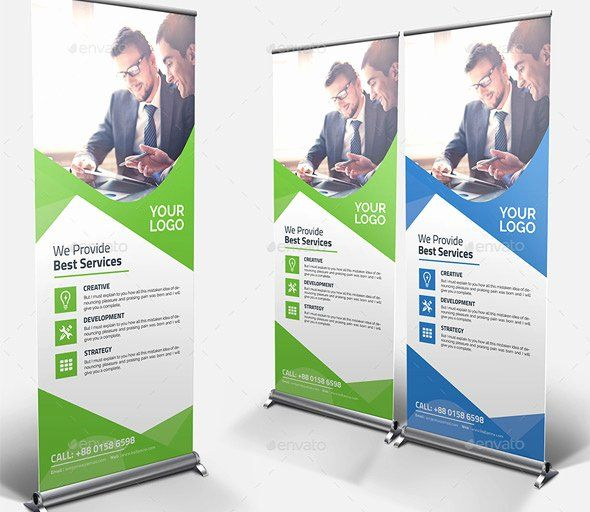 Roll Up Banner Template Awesome 25 Professional Roll Up Banners & Signage Templa...