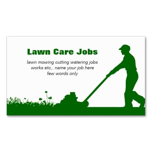 lawn care business card with darker