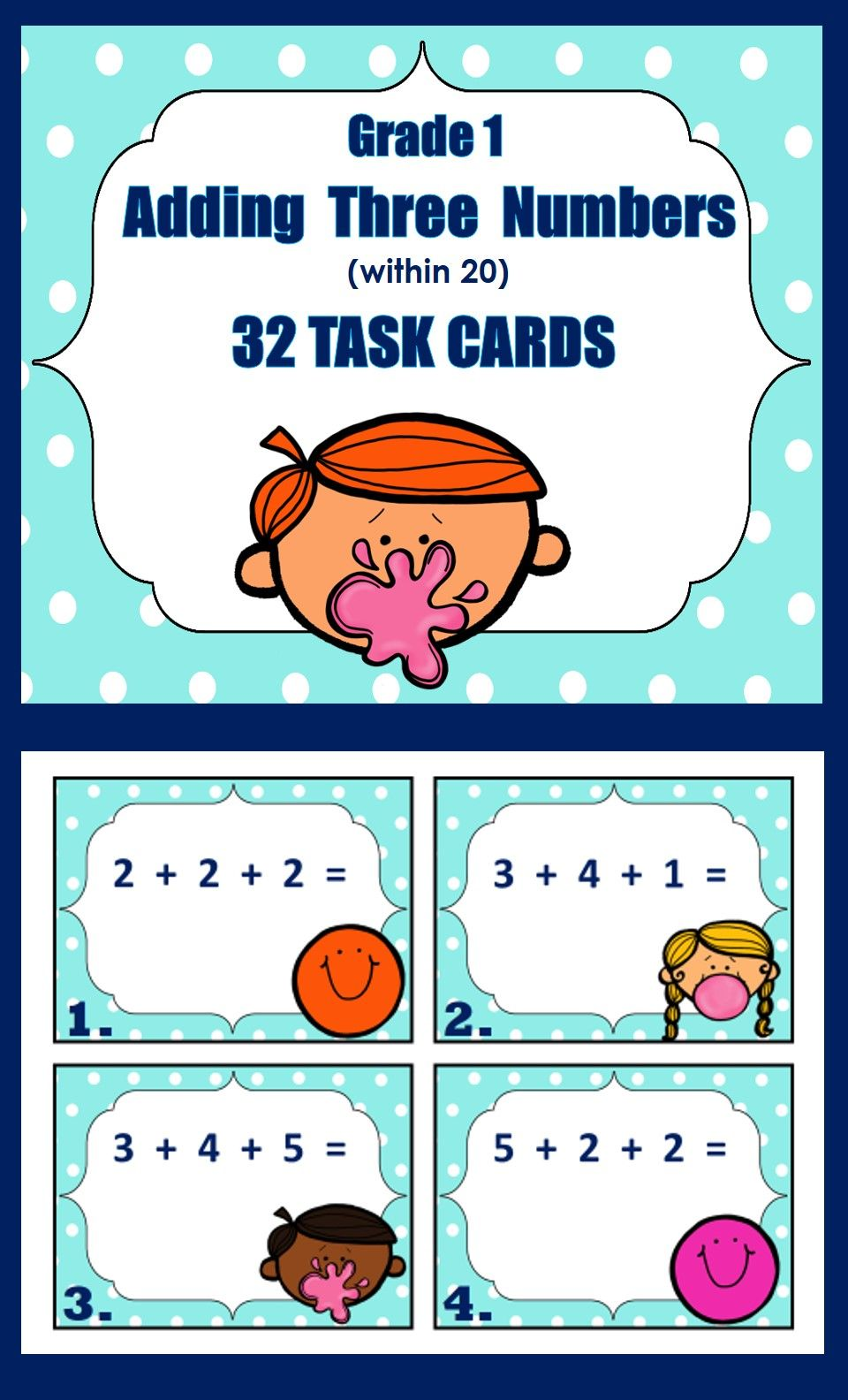 Adding Three 1-Digit Numbers   Elementary Math, K-6   Pinterest ...