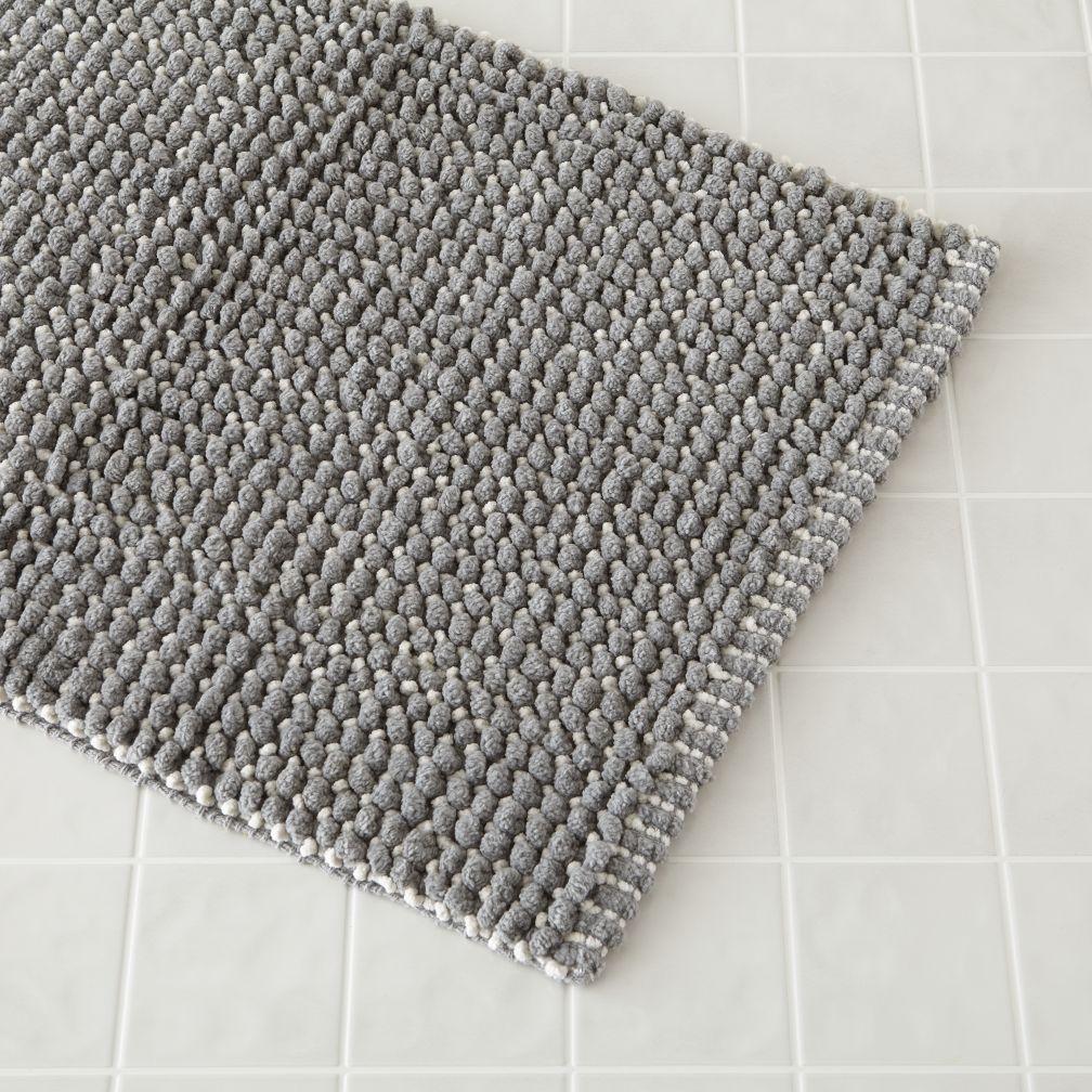 shop fresh start bath mat (grey). comfy, 100% cotton bath mat