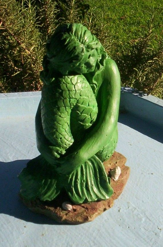 Stsatuette For Outdoor Ponds: MERMAID STATUE For Ponds And Gardens