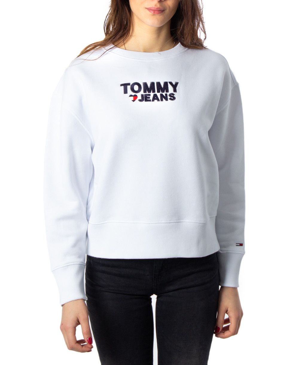 Tommy Hilfiger Women Sweatshirts White Sweatshirt Women Sweatshirts Women Tommy Hilfiger Women [ 1220 x 1000 Pixel ]