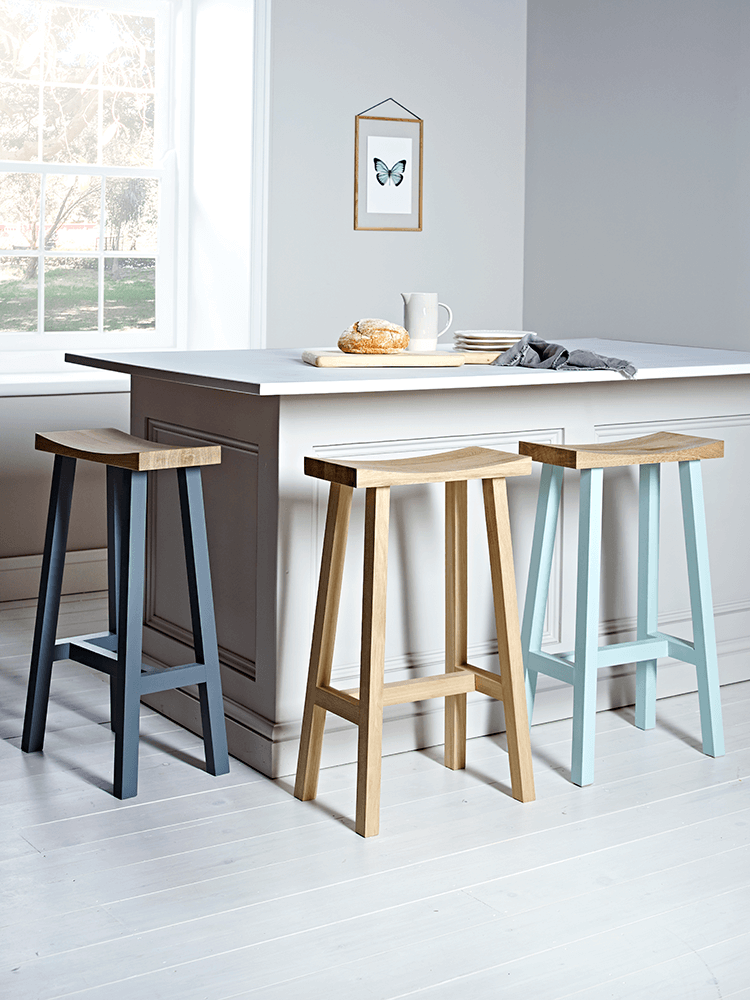 Our Tall Curved Top Stool makes perfect
