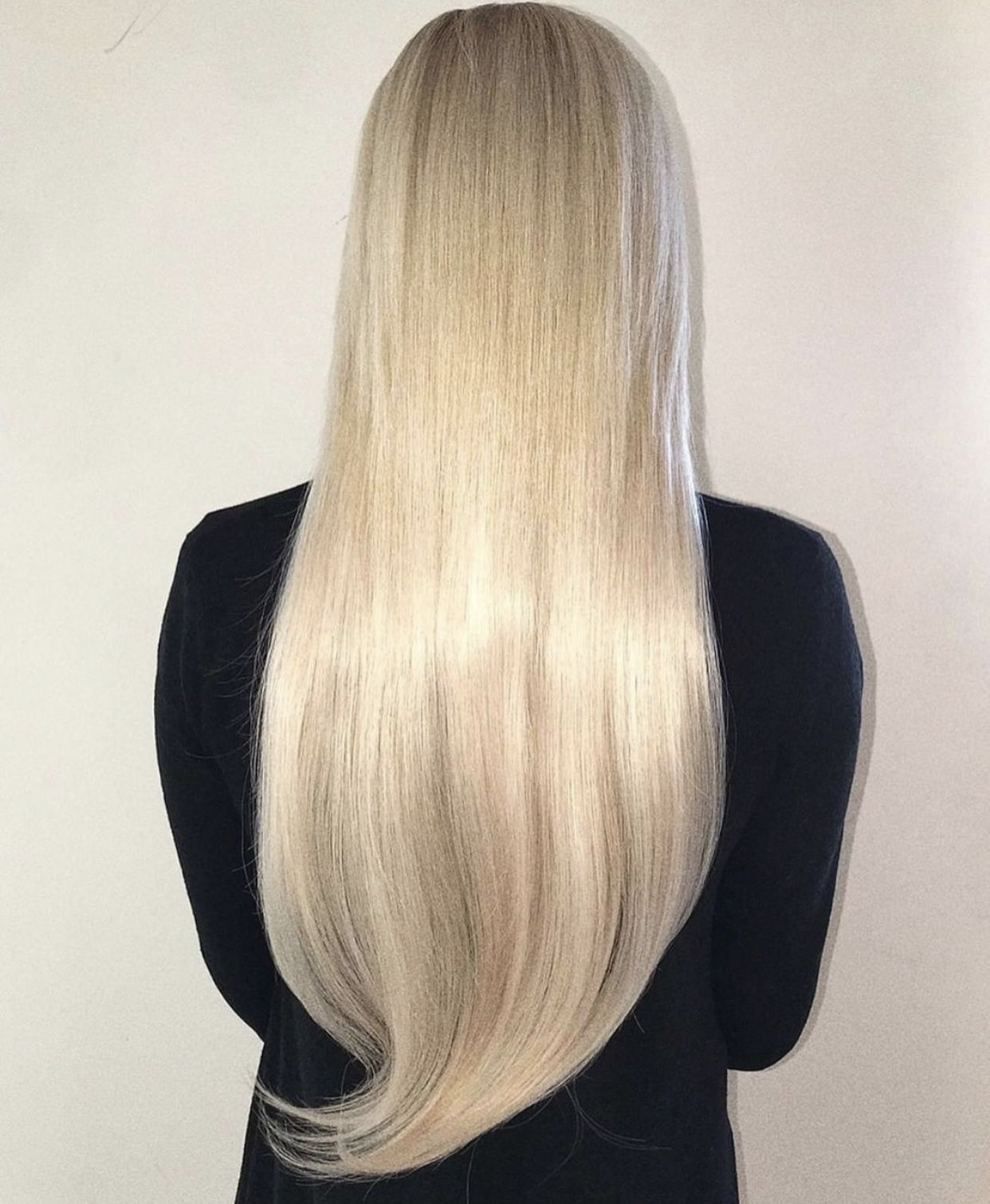Platinum Ash Blonde 60 Remy Tape In Tape In Hair Extensions