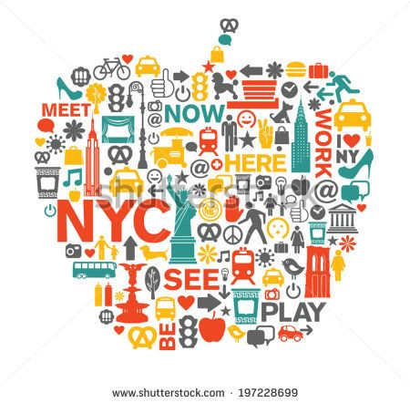 New York City Nyc Icons And Symbols Big Apple Landen Pinterest