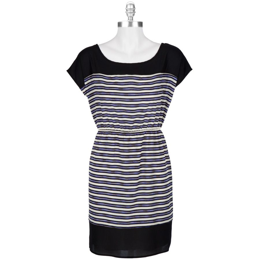 Soprano Juniors Stripe Dress with Cap Sleeves #VonMaur