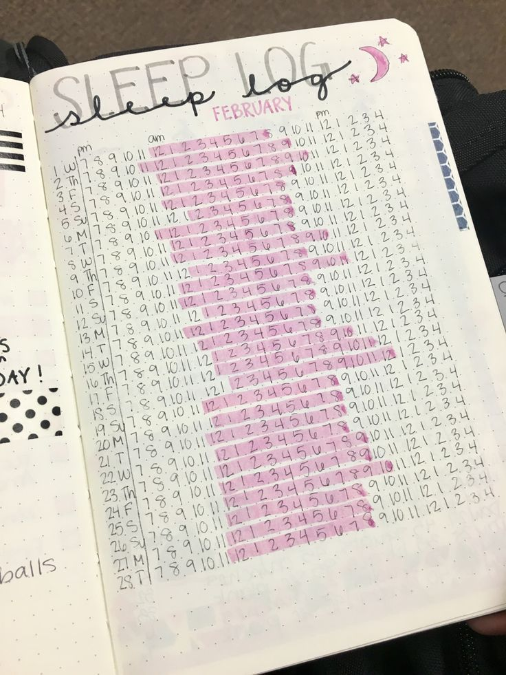 Sleep log idea for tracking your health in your bullet journal