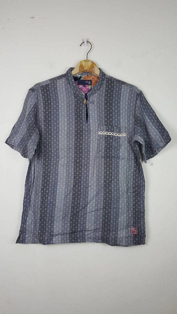 9bba33a8 Rare Vintage SUGAR CANE Checks Plaids Tartan Single Pocket Flannel Button Work  Shirt Union Made Toyo Enterprise Workwear Kapital Samurai apc