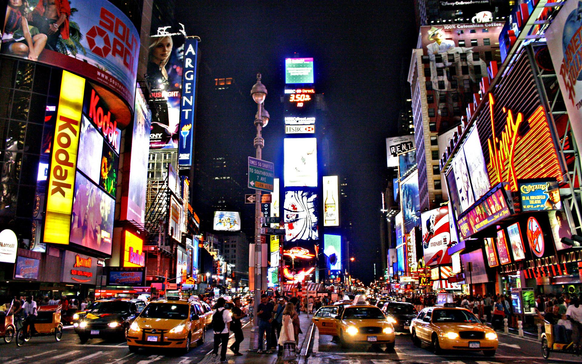 New York Street Night Wallpaper New York City Travel Times Square Night Life