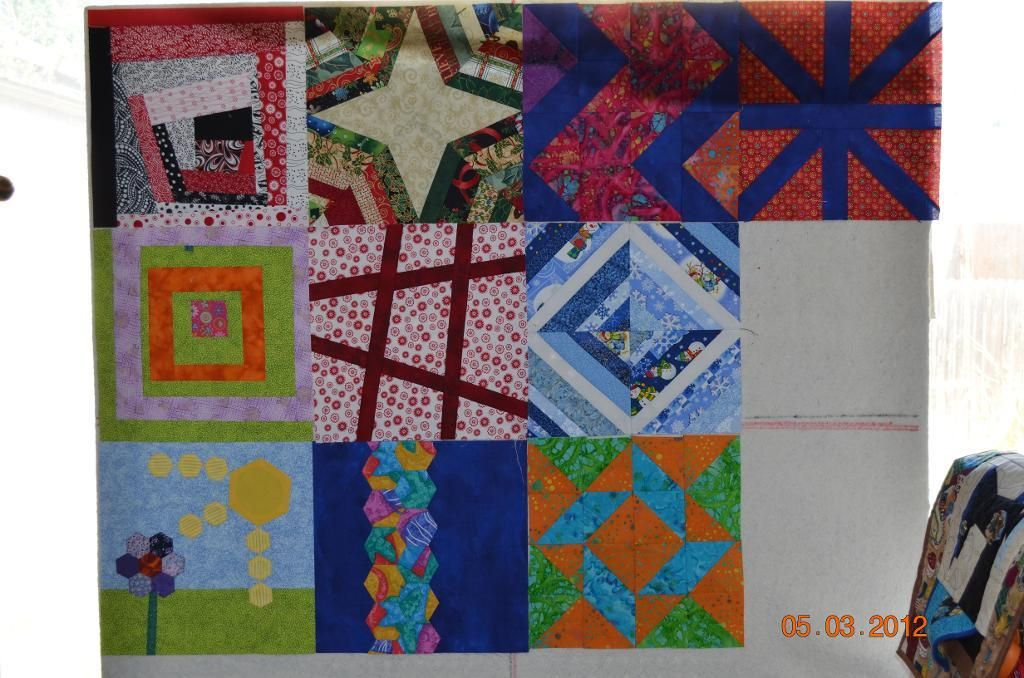 BoM 5 months done going to be an interesting quilt lol