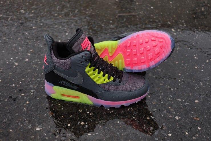 womens air max 90 sneakerboot green