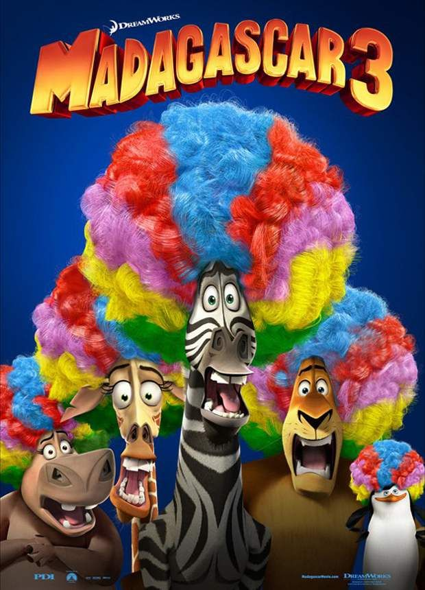 """New Poster For """"Madagascar 3: Europe's Most Wanted."""" Opens June 8, 2012. @Angie Williams @Misty Goering here's one for the kids (and me!) to go see yay!"""