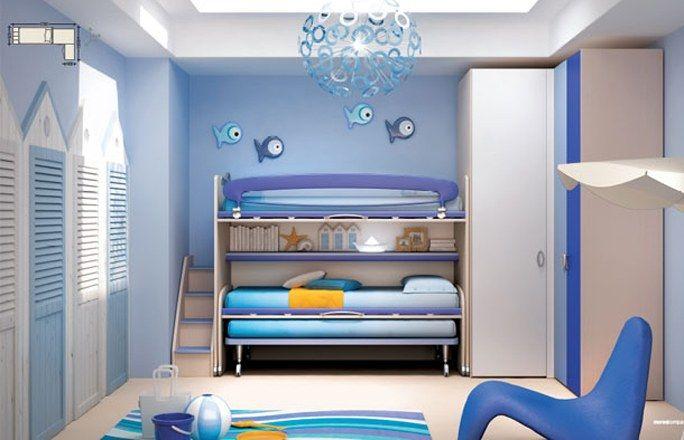 Camerette per bambini: la cameretta Moschella con soppalco ...