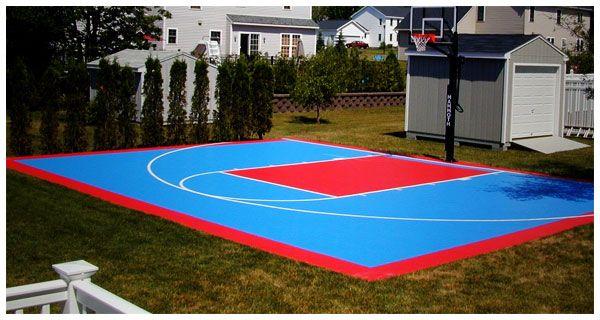 home court...   Home basketball court, Backyard, Building ...