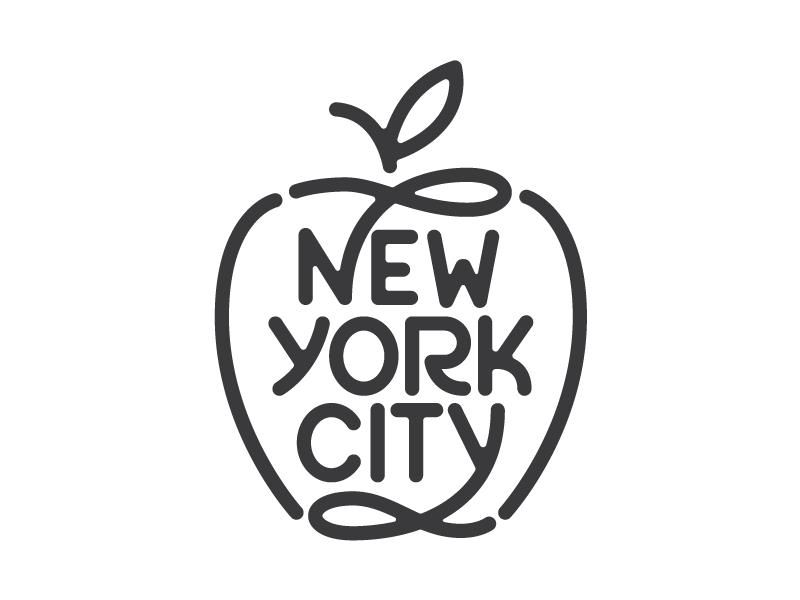 New York City Word Mark Logo Wordmark Logo Design Lettering Design