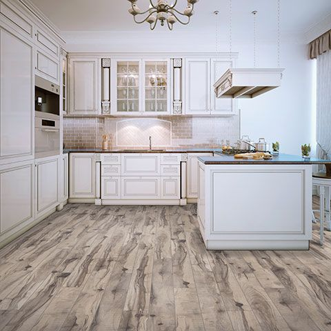 Rustic Poplar Textured Laminate Floor Grey Maple Beech