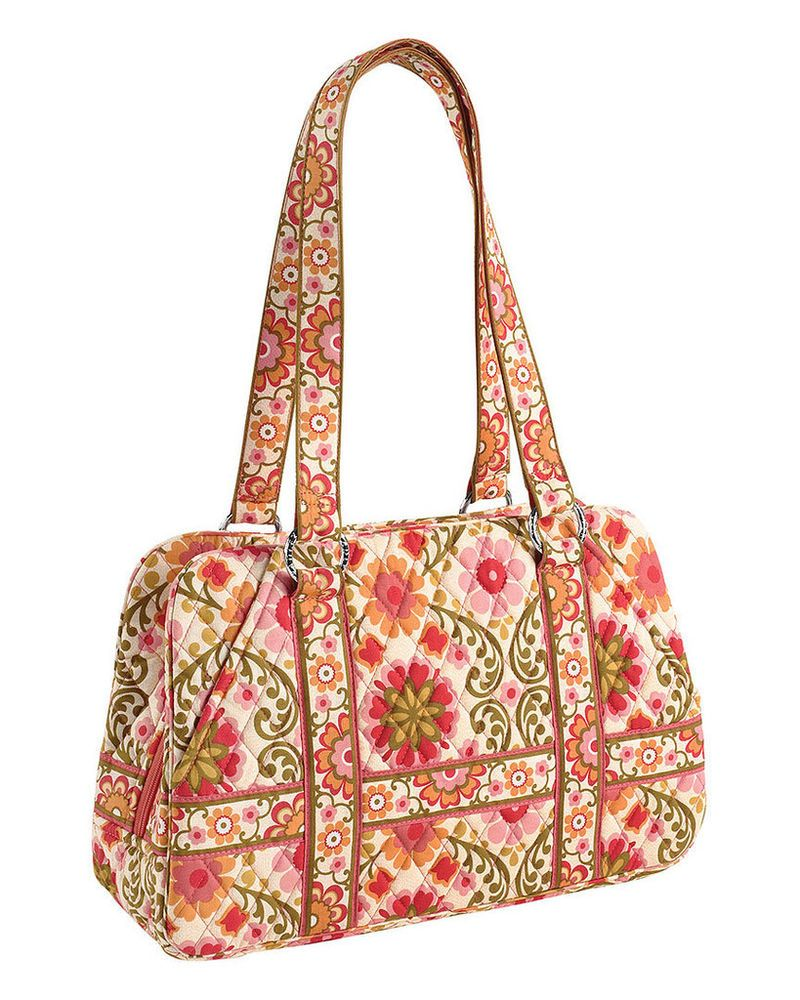 Vera Bradley Folkloric Squared Away Purse Bag NEW NWT FREE PRIORITY SHIP   VeraBradley  TotesShoppers 6a3ba9d4acb67