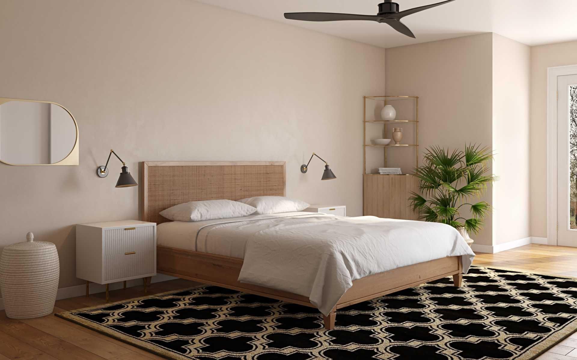 Classic Bohemian Vintage Midcentury Modern Bedroom Design By Havenly Interior Designer Dayu In 2021 Interior Design Bedroom Design Modern Bedroom Design