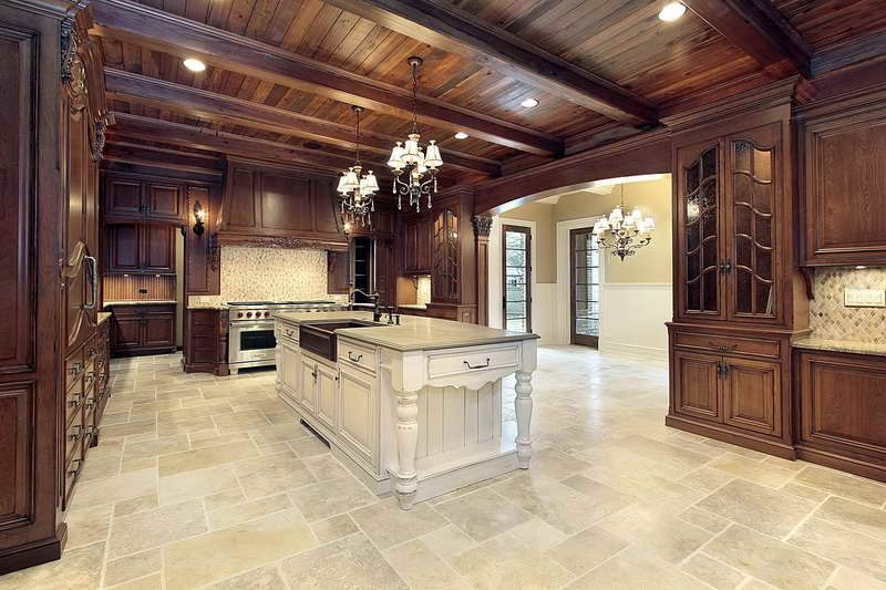 Kitchen Tile Flooring Designs With Wood Roof  Beach House Inspiration Kitchen Floor Designs Decorating Inspiration