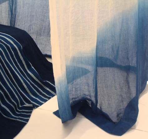 aboubakar fofana - deep blue fabrics - ombre - west africa & london designer. I love the work of aboubaker foufana. He is a master.