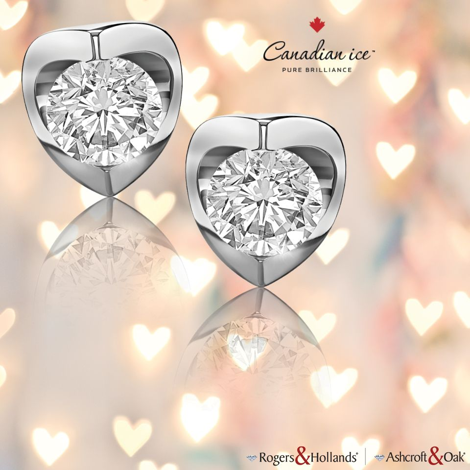 Canadian Ice Diamond Stud Earrings
