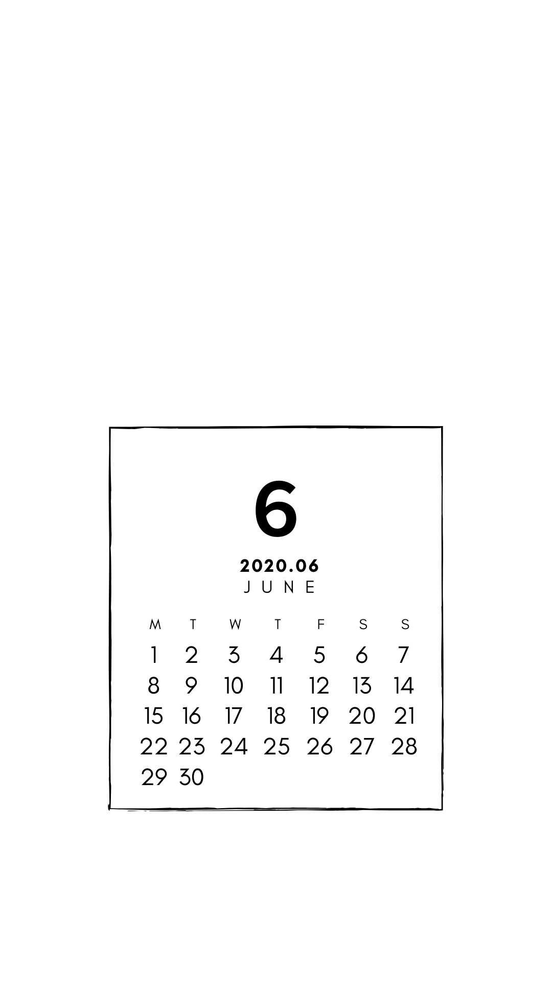 06calendar カレンダー シンプル 8月 カレンダー カレンダー