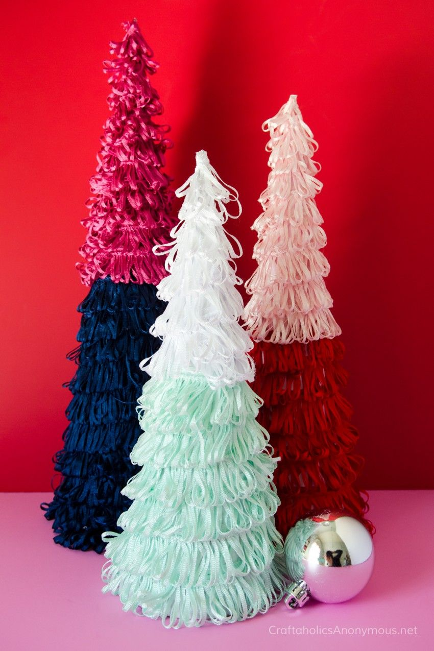 Decorative garden trees  Colorful Mini Christmas Trees  Craftaholics Anonymous  Pinterest