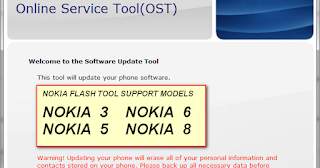 Download Online Service Tool Feature: Nokia 3 Nokia 5 Nokia