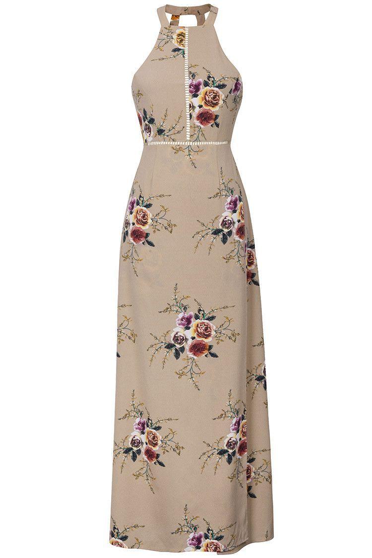 3a6ec5e6980 Cupshe Bright Precious Floral Halter Dress