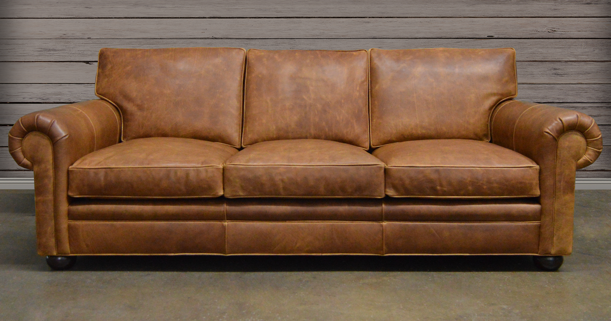 Leather Furniture Ruling Vintage Brown Shade For Superb Homes
