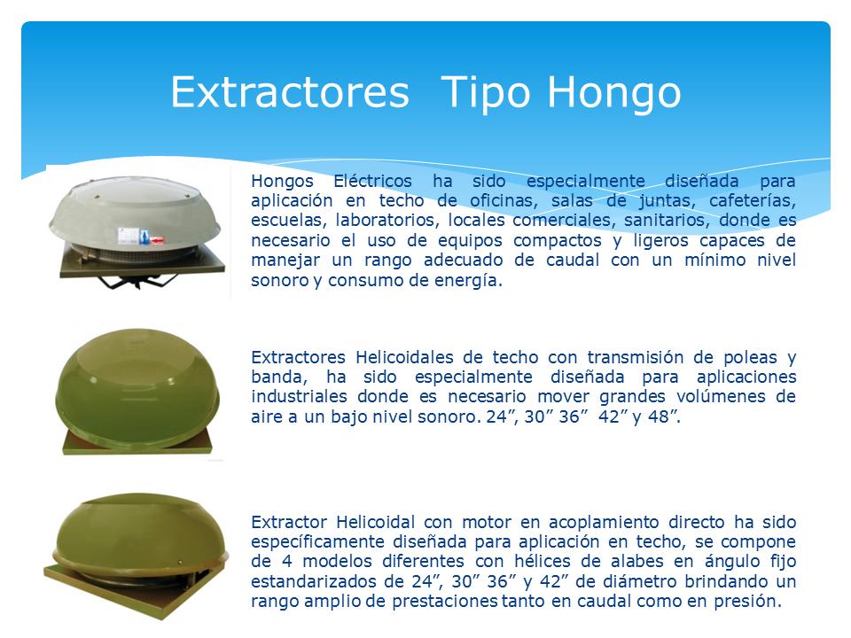Los ventiladores tipo hongo para instalaci n sobre techos for Tipos de techos