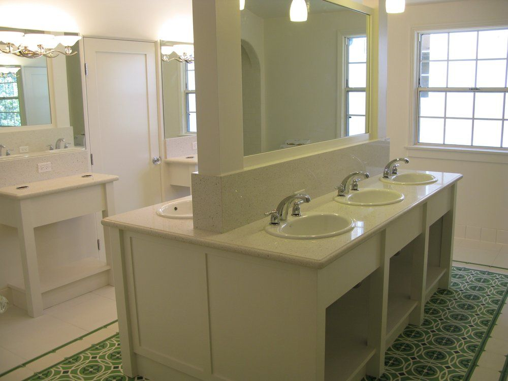 Website Picture Gallery Sorority House Bathroom layout similar to Social Area bathroom