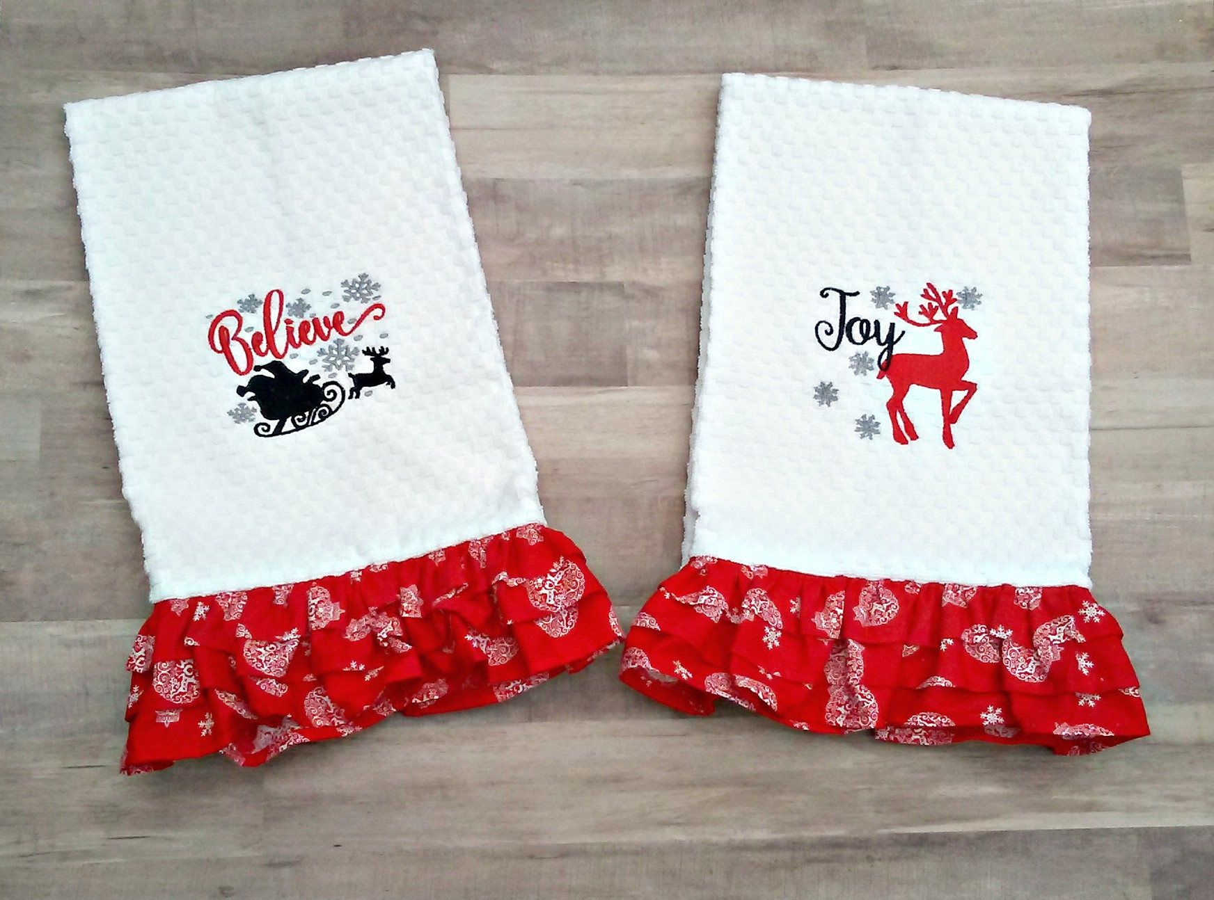 Christmas Kitchen Towels Decor Holiday For