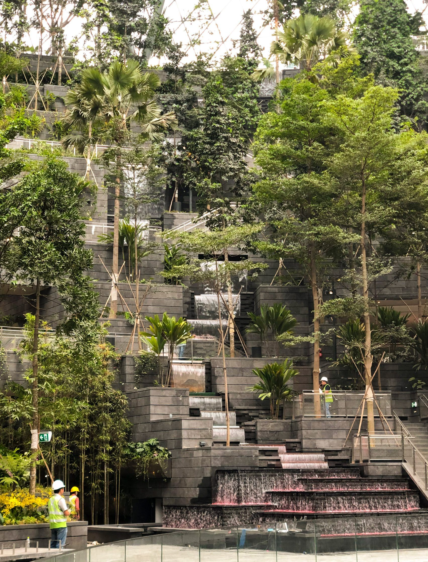 World S Tallest Indoor Waterfall At Moshe Safdie S Jewel Changi Airport Indoor Waterfall Landscape Architecture Landscape Design