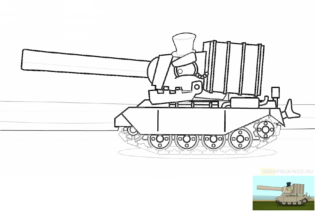 Раскраски (Мультики про танки) в 2020 г | Раскраски, Танк ...